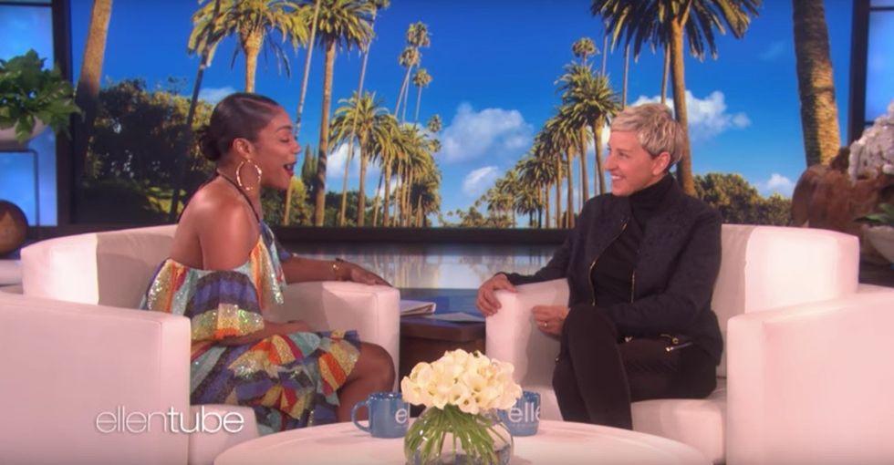 Watch Tiffany Haddish completely lose it when Ellen reveals the best surprise ever.