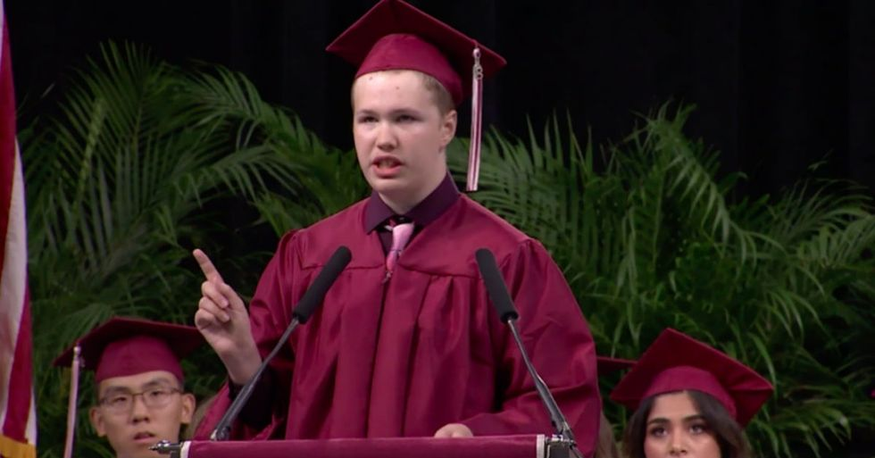 This 6-minute graduation speech from a student with autism is a must watch.