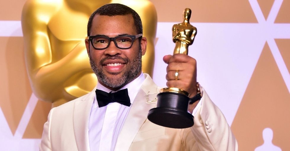 What you didn't see: Jordan Peele's epic answer to a backstage question.