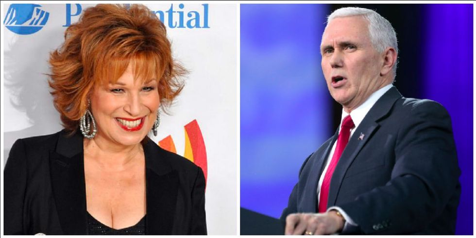 Maybe Joy Behar should apologize for this joke — but not to Mike Pence.