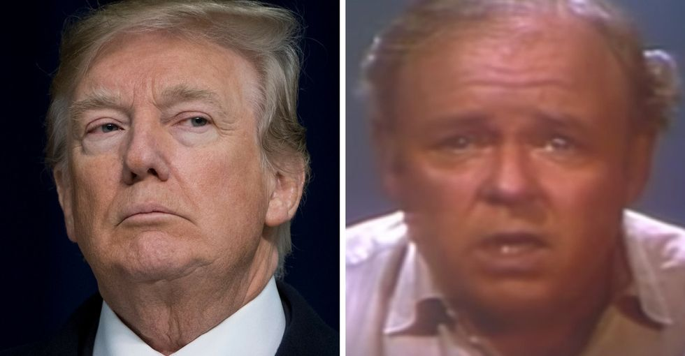 Archie Bunker's hilarious take on guns in 1972 is pretty scary in today's America.