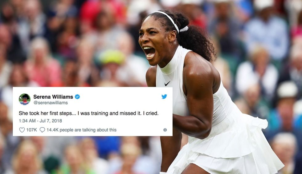This viral tweet from Serena Williams shows just what a shared experience parenting is.