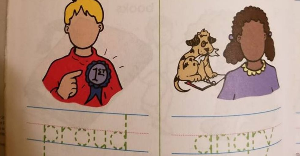 This kids' worksheet is a perfect example of how implicit bias gets perpetuated.