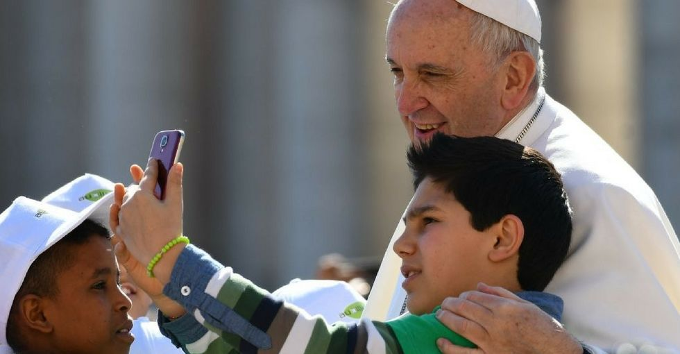 'You have it in you to shout': The pope rallies behind teens demanding change.