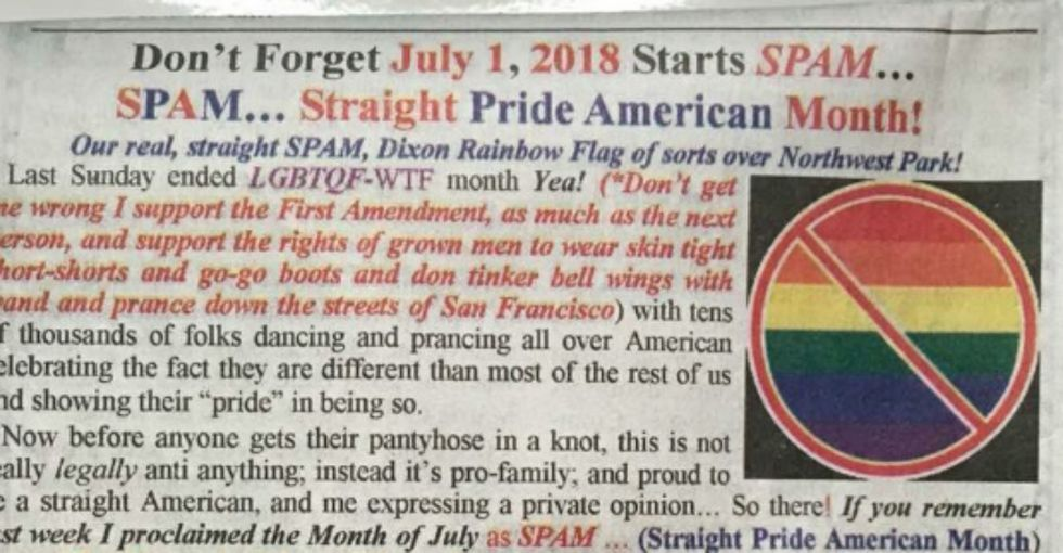 This lawmaker wanted a 'Straight Pride Month.' But it backfired —big time.