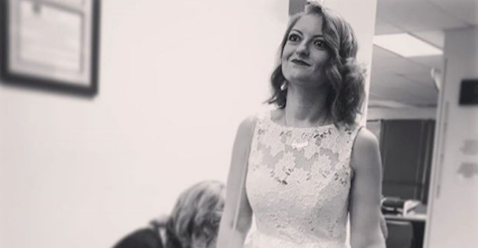 This bride's cold feet had nothing to do with her fiancé. It had to do with her feminism.