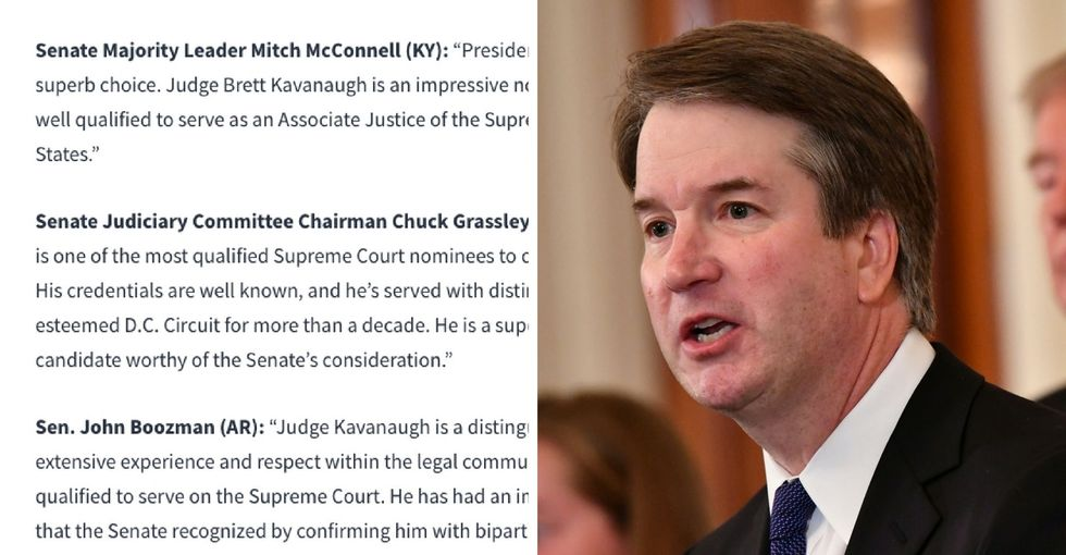 This White House email shows a glaring commonality in who has Kavanaugh's back.