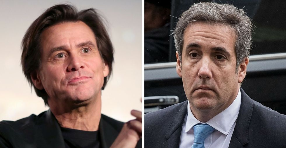 Remember when Michael Cohen threatened a reporter? Jim Carrey definitely does.