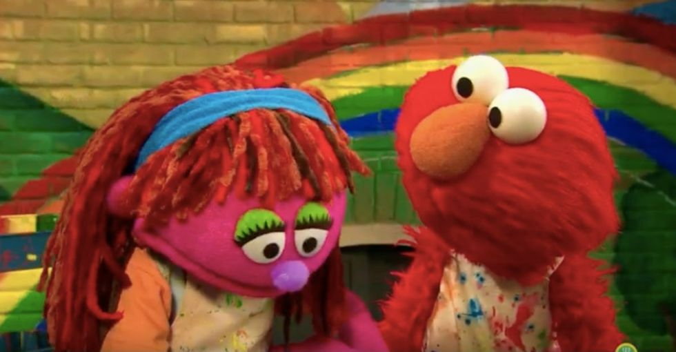 Sesame Street is tackling the homelessness that 2.5 million kids face. Right here. In America.