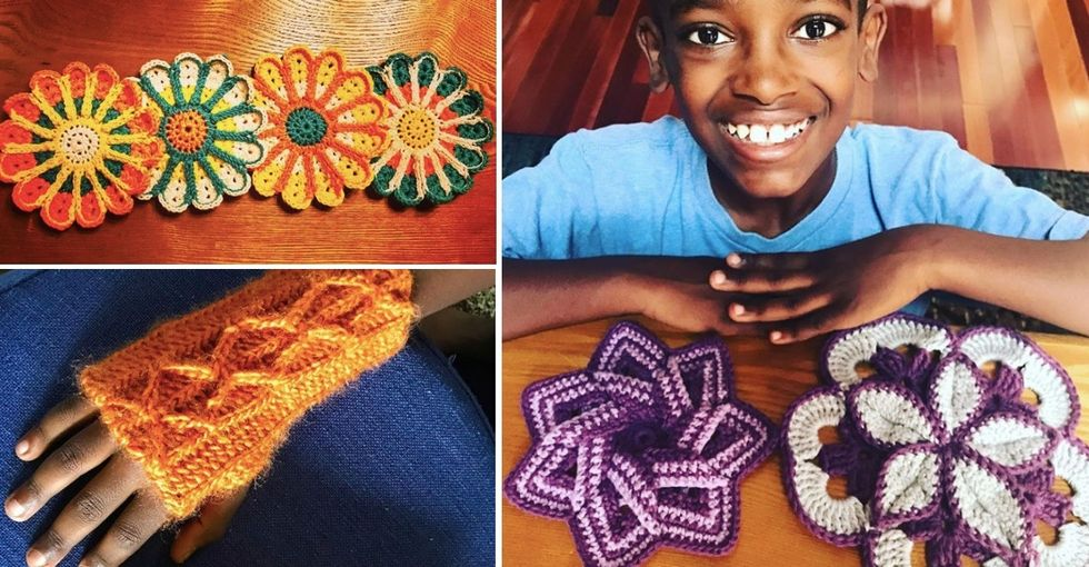 This 11-year-old who loves to crochet has become a viral phenomenon.