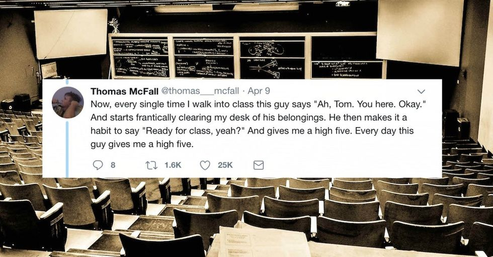 A college student who was fed up with his classmate has gone viral for calling out his own ignorance