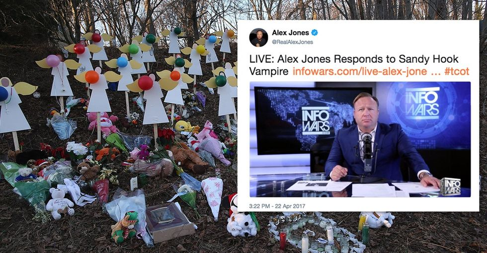 Alex Jones gets sued for his relentless campaign to torment Sandy Hook parents.