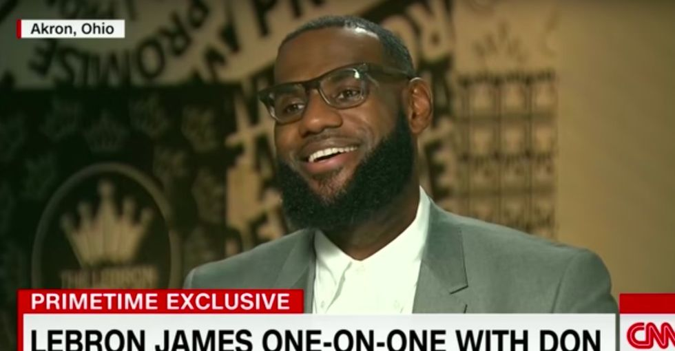 Trump uses sports 'to divide,' LeBron James said. He makes an excellent point.