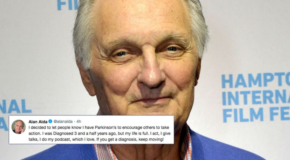 Alan Alda just revealed he has Parkinson's Disease. Here's how he wants to help others.