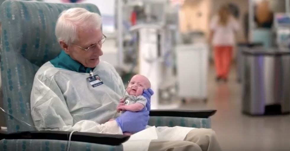 This 81-yr-old 'baby cuddler' who gave $1 million to the NICU is your new favorite human.