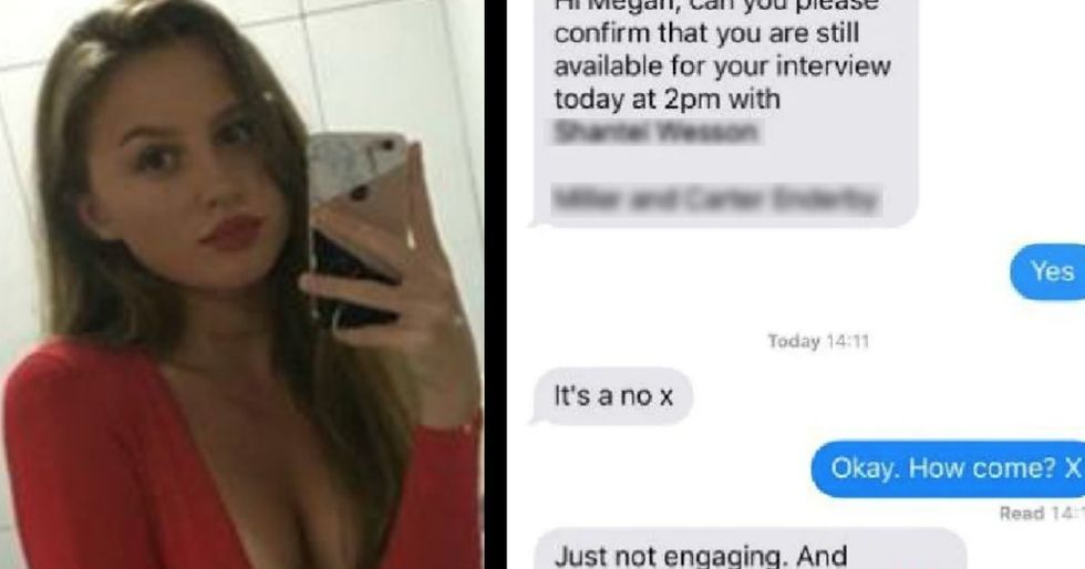 Teen gets the most brutal job rejection over text