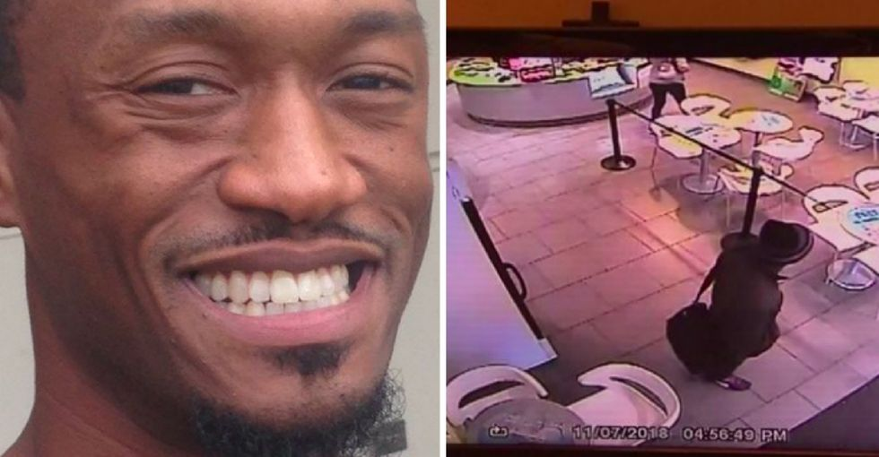 This veteran was working in a yogurt shop when employees got 'scared' and called the cops.