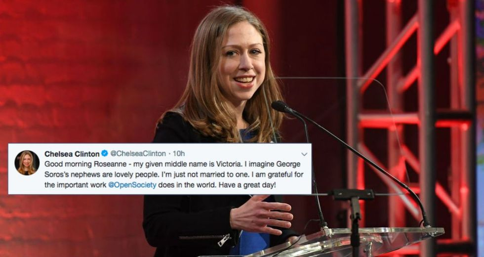Chelsea Clinton showed everyone how to respond to Roseanne's toxic tweets.