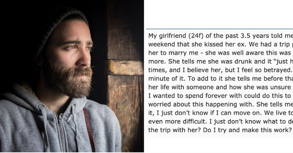 A stranger's advice to a guy whose girlfriend cheated on him