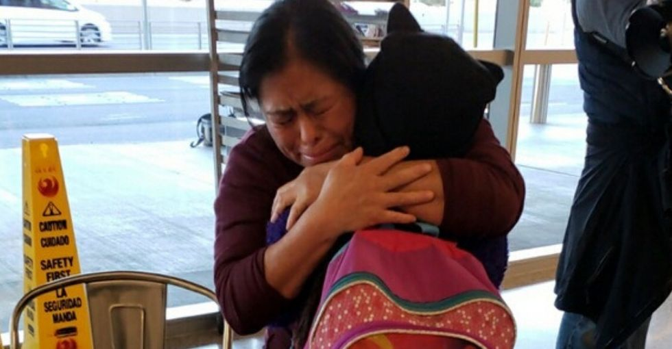 After 246 days of separation, this woman and her daughter are finally reunited.