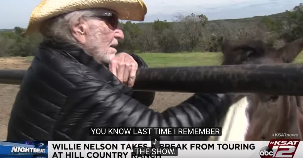 Willie Nelson saved the lives of 70 horses and gave them a place to roam on his farm.