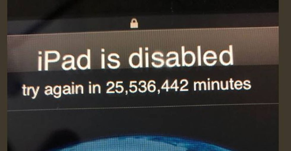 How did a tech-loving toddler lock his dad out of his iPad for 48 years?