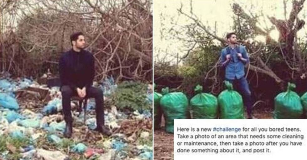 """Someone challenged """"bored teens"""" to clean up local parks and beaches. They absolutely nailed it."""