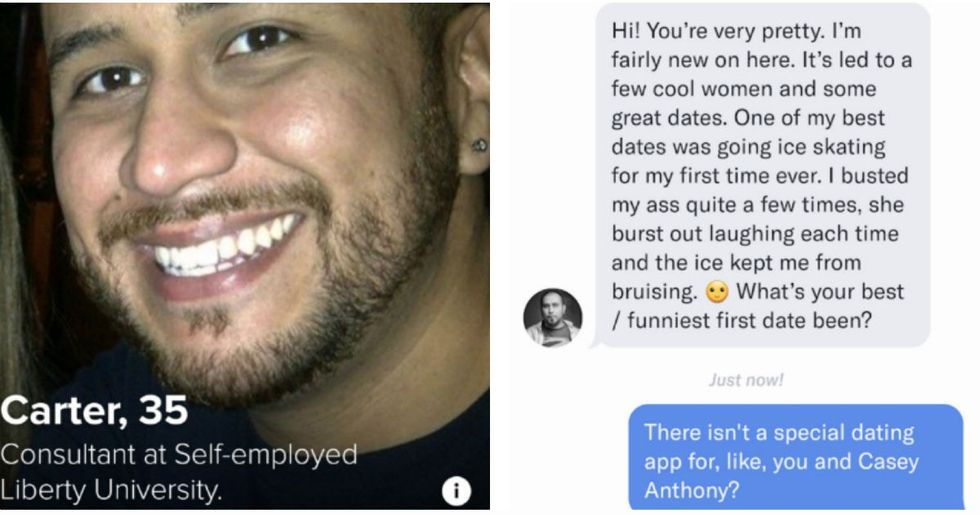 Tinder deleted George Zimmerman's profile and banned him from the app in the name of public safety.