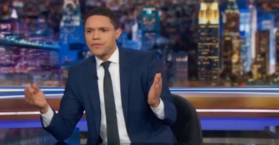 A man asked if all poor Americans should get reparations. Trevor Noah's response is perfect.