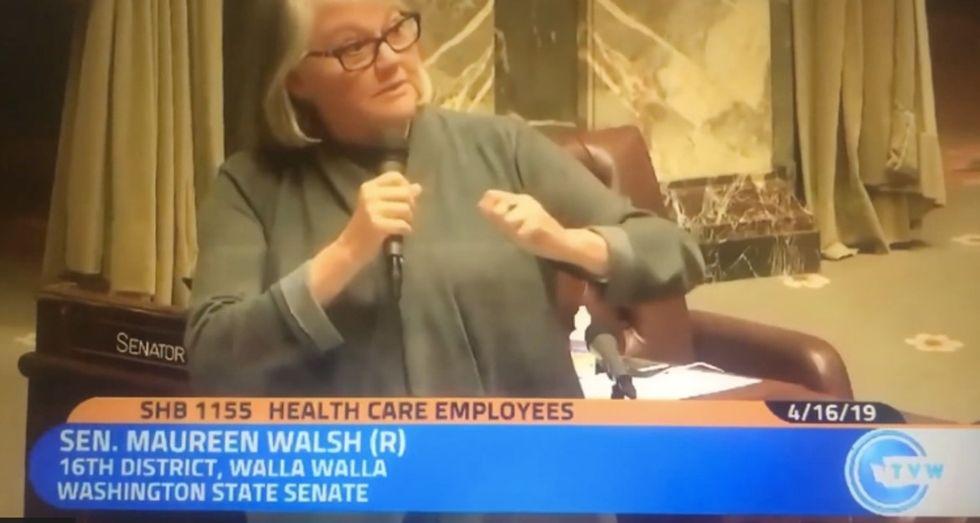 "This senator said nurses ""sit around playing cards"" most of the day. Big mistake. Big. Huge."