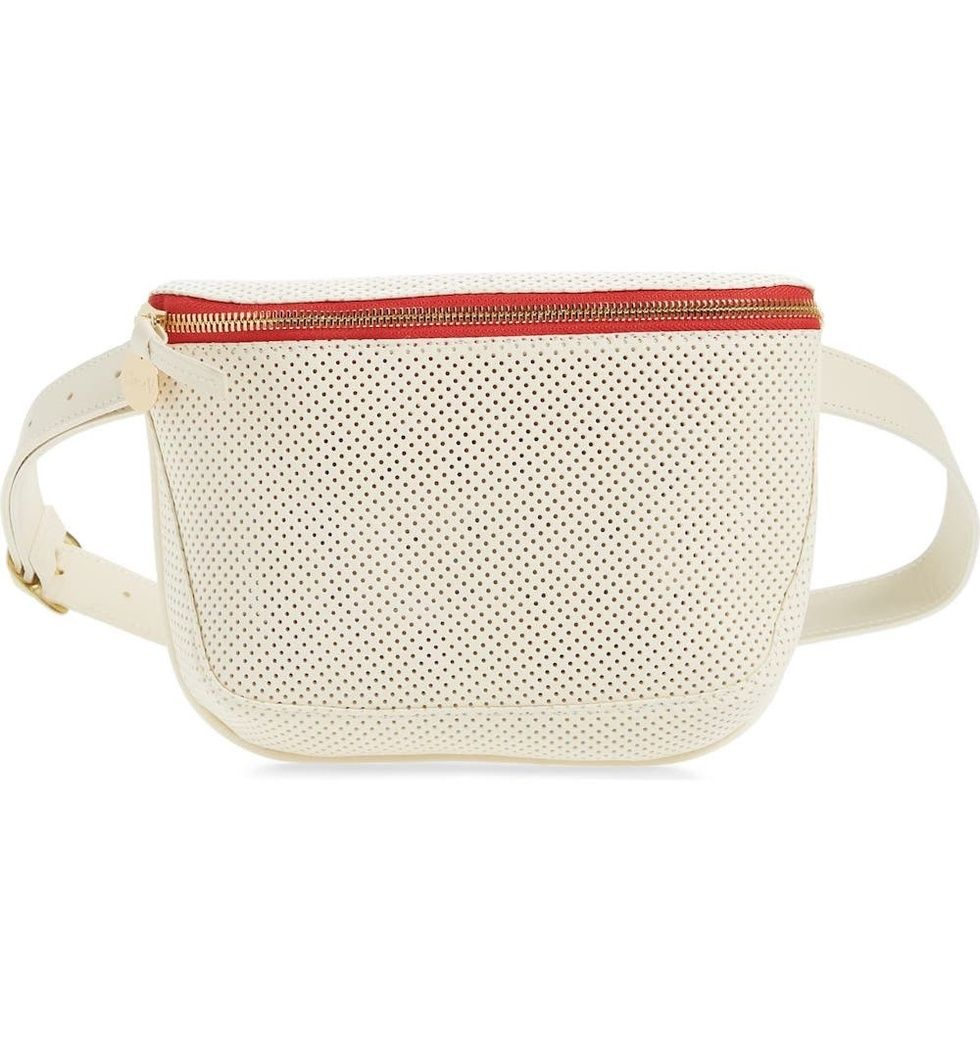 Clare V. Perforated Leather Fanny Pack