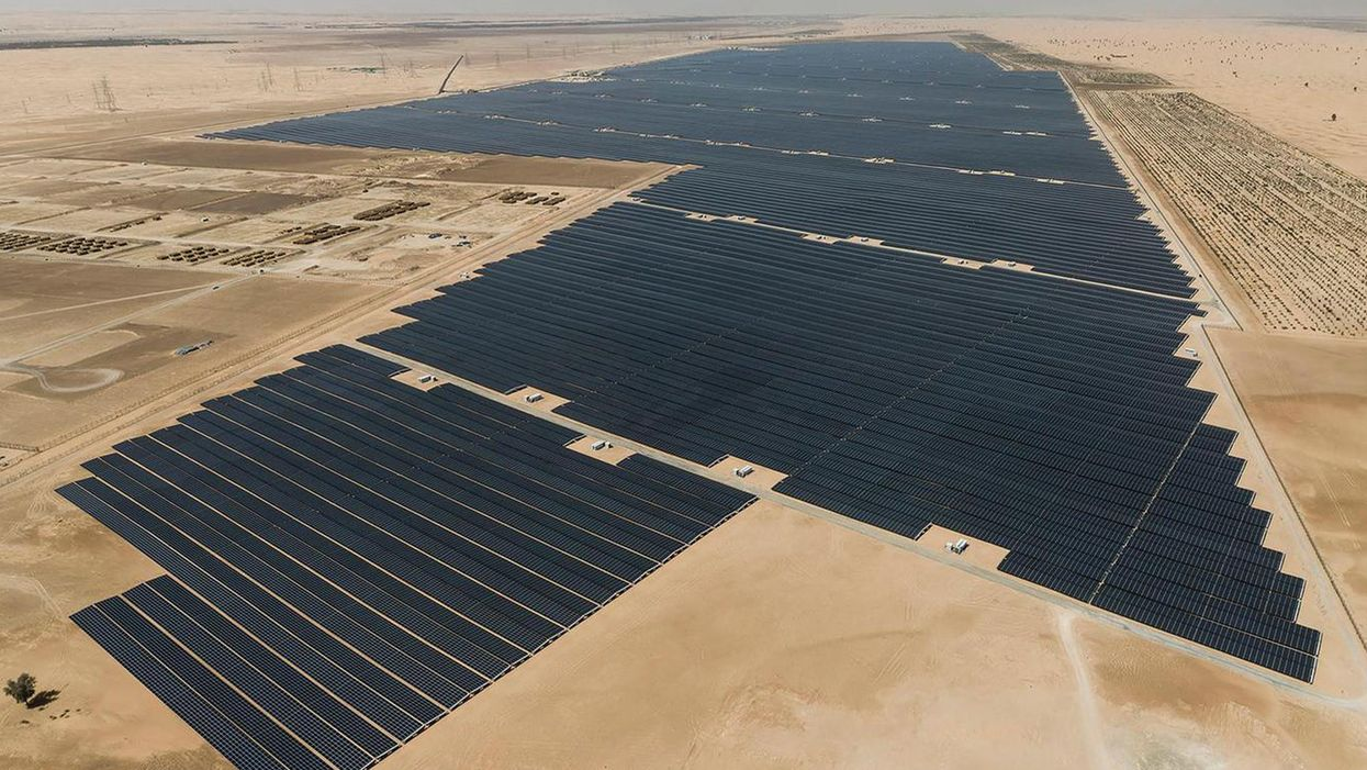 The world's largest solar power project begins running in UAE
