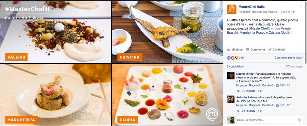I piatti presentati ai critici gastronomici