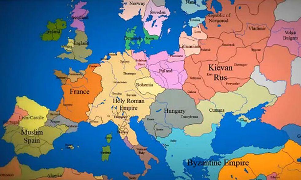 Cartina Europa 1860.La Mappa Dell Europa Dall Anno 1000 A Oggi Panorama
