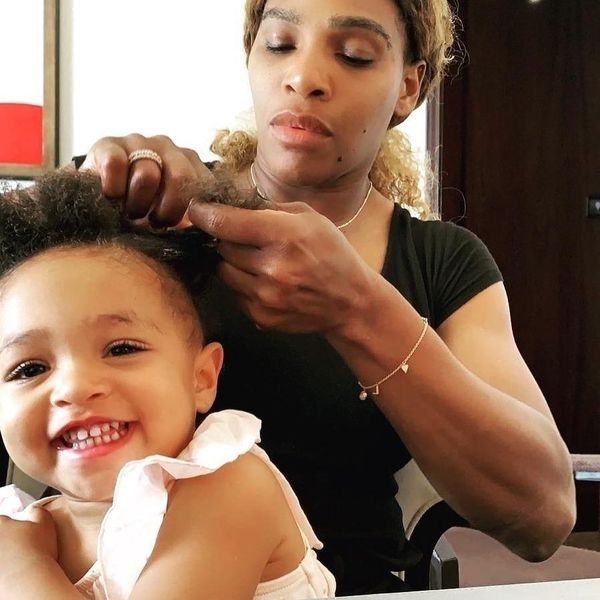 Serena Williams Shares Adorable Photo With Daughter While Braiding Her Hair