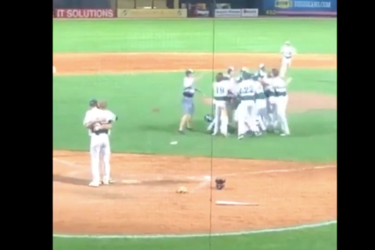 A high schooler's reaction to striking out his childhood buddy is peak sportsmanship AND peak friendship.