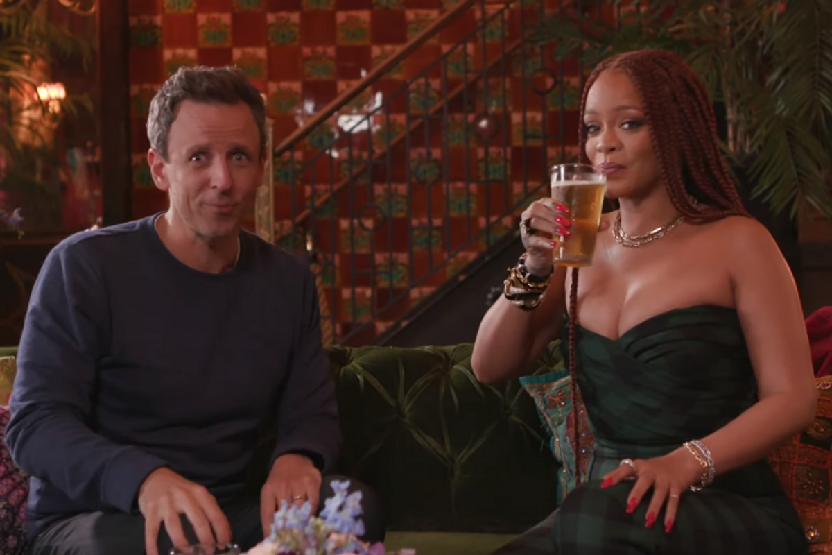 Watch Rihanna Get Day Drunk With Seth Meyers