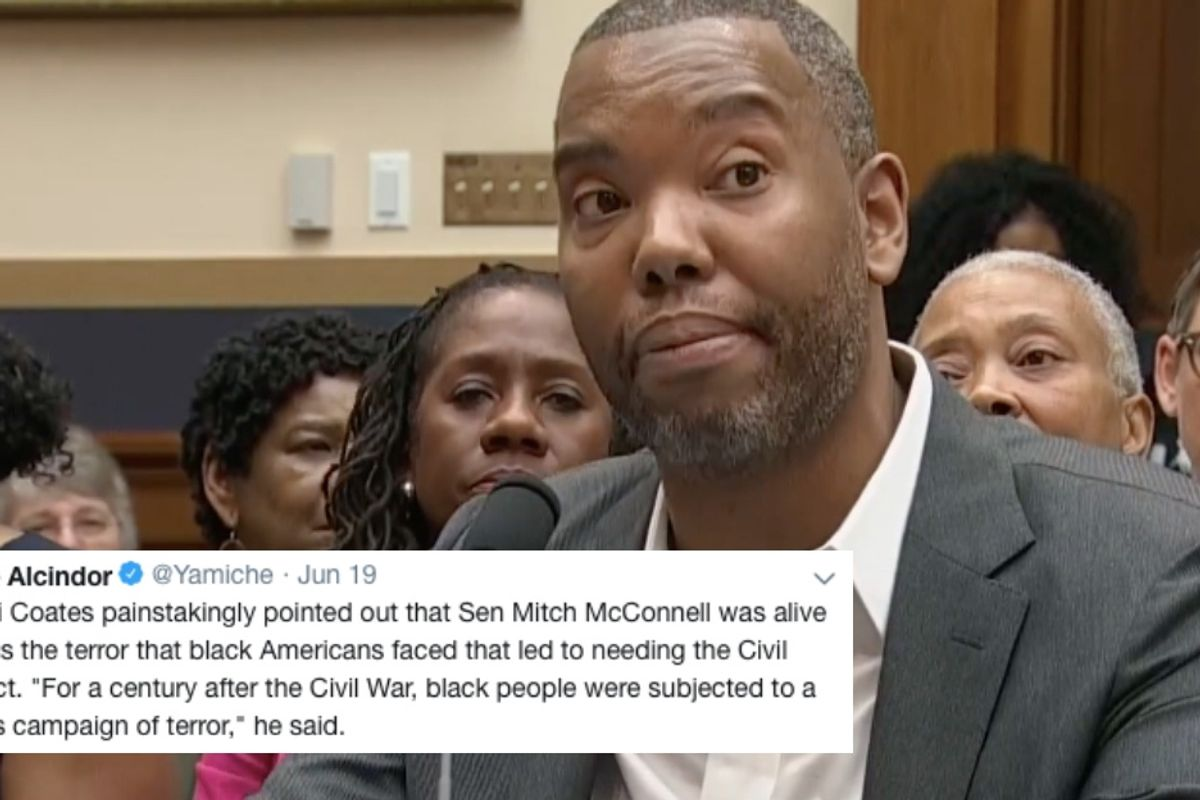 Ta-Nehisi Coates gave a masterful rebuttal to Mitch McConnell's anti-reparations rant.