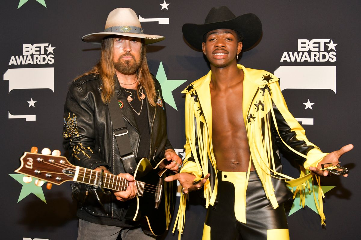 Lil Nas X and Billy Ray Cyrus Ride Horses at the BET Awards