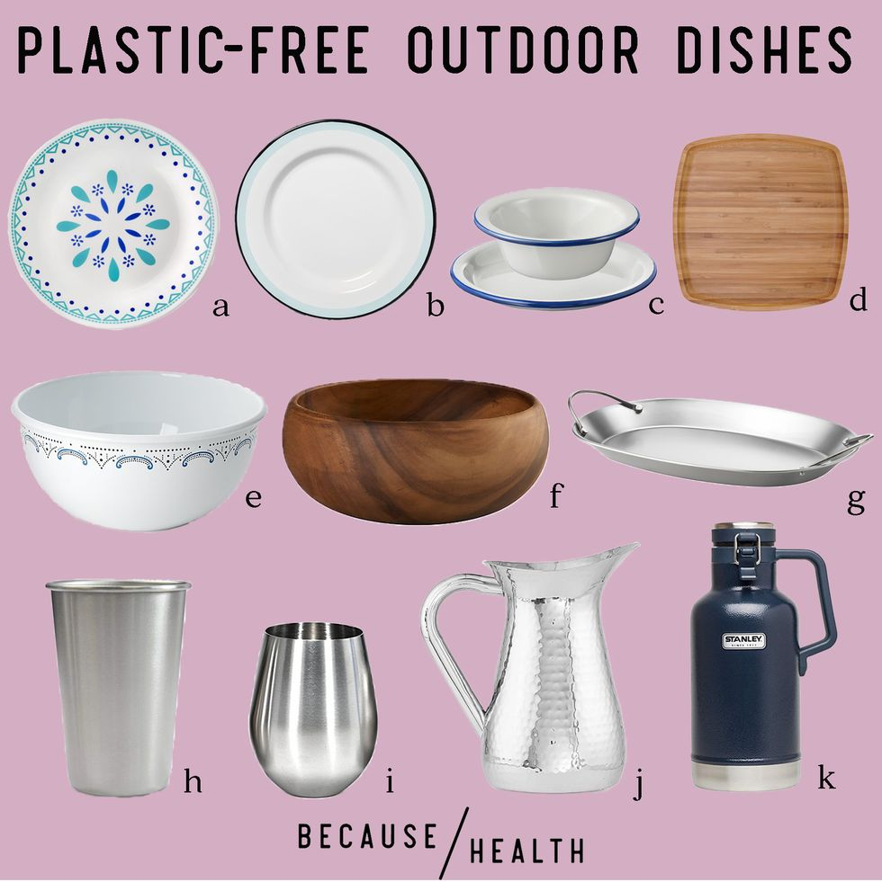 Plastic-Free (and Melamine-Free!) Reusable Outdoor Tableware