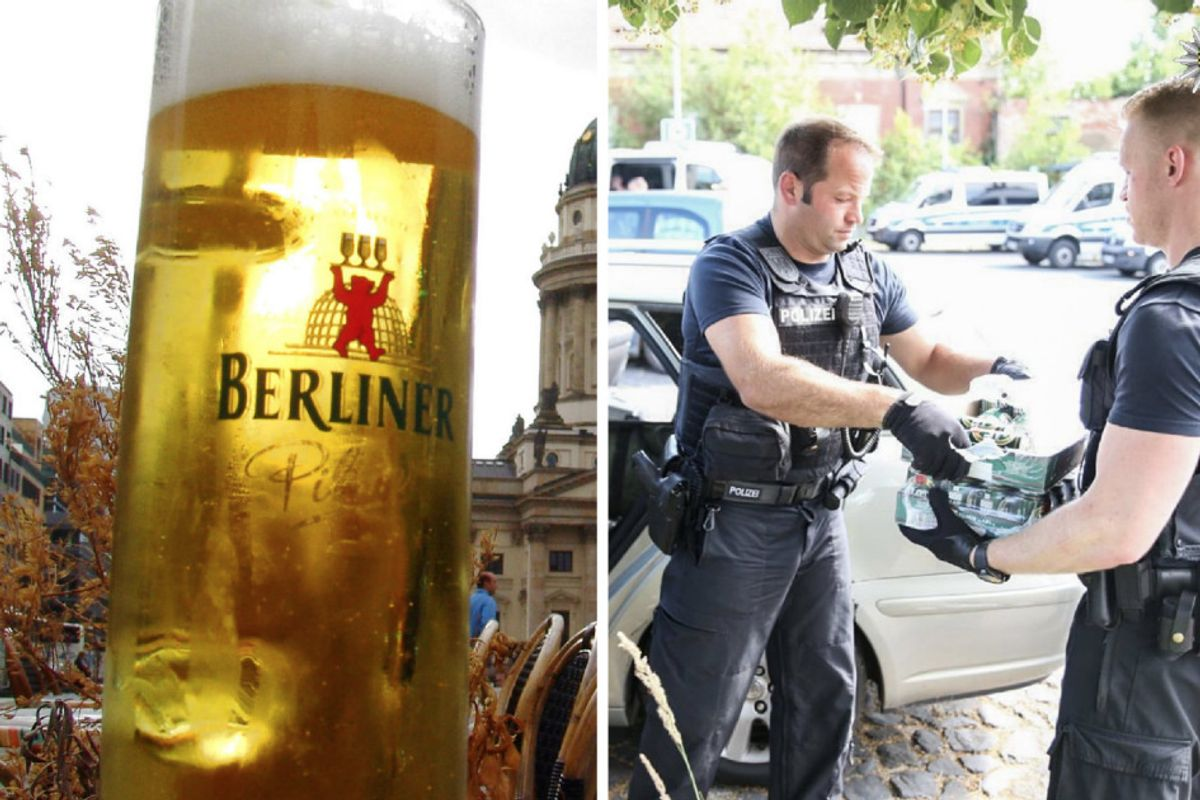 German residents buy up all of town's beer before white supremacists arrive for 'Shield and Sword Festival.'