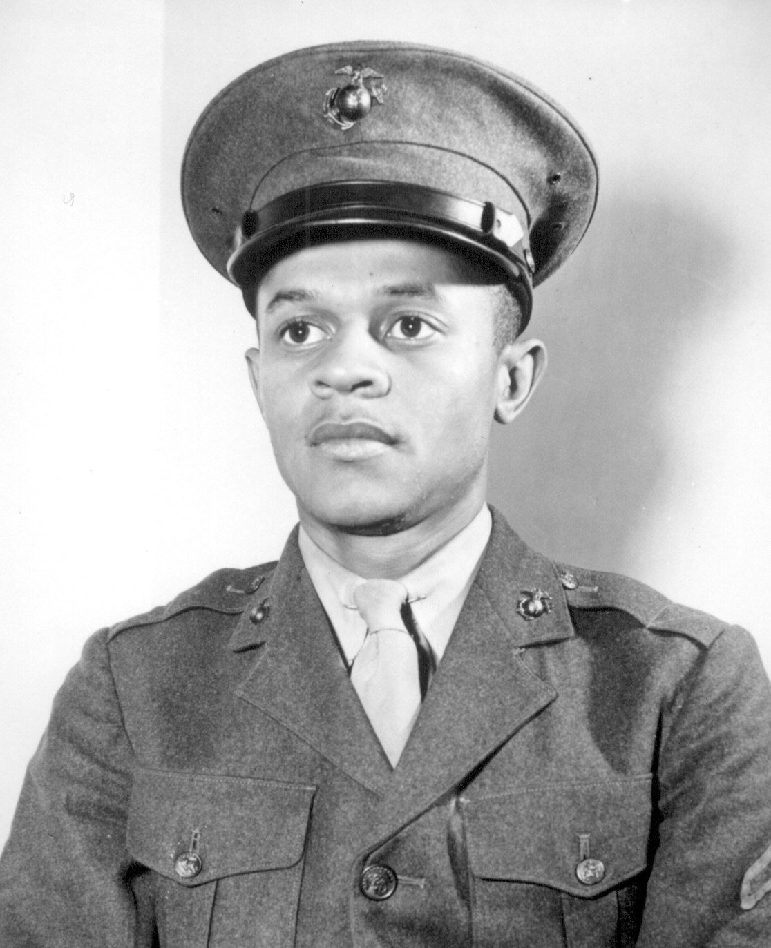 Howard P. Perry was the first black man to be accepted into the U.S. Marine Corps. He joined June 1, 1942, and trained in a first class of 1,200 black men at Camp Lejeune, North Carolina.