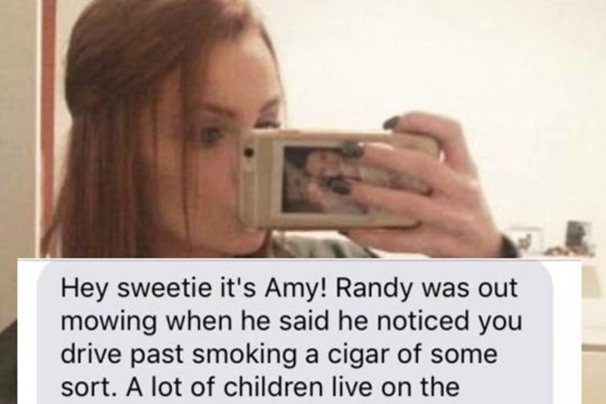 A neighborhood mom thought she caught her teen babysitter smoking and was hilariously wrong.