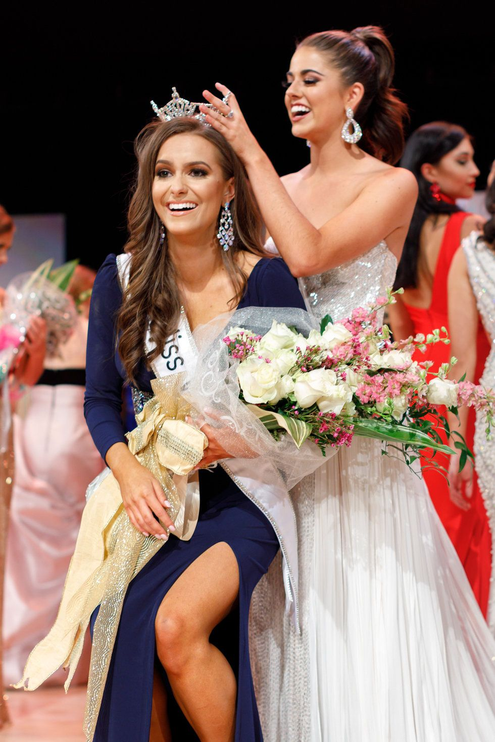 Image result for Biochemist crowned 2019 Miss Virginia after performing science experiment as talent