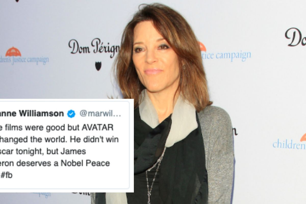New age presidential candidate Marianne Williamson's old tweets have become a meme. Goddess bless.