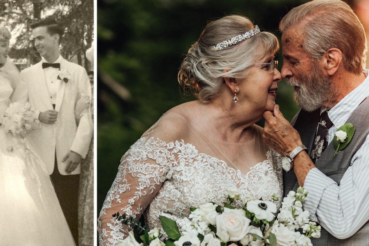 A couple's viral 60th anniversary photo shoot includes their sweet advice for a lasting marriage.