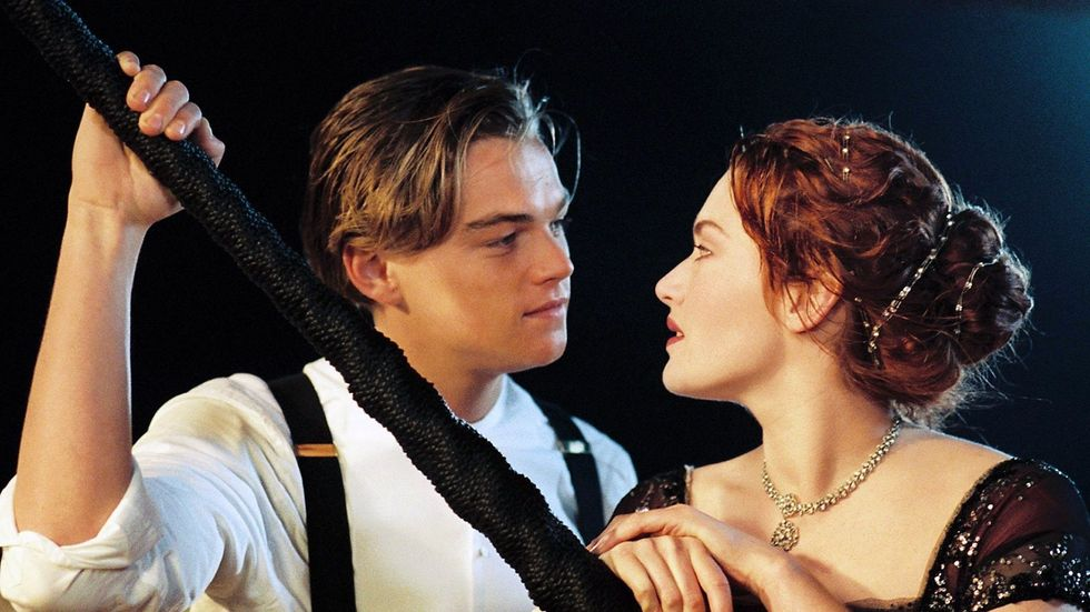 Jack and Rose from the film Titanic