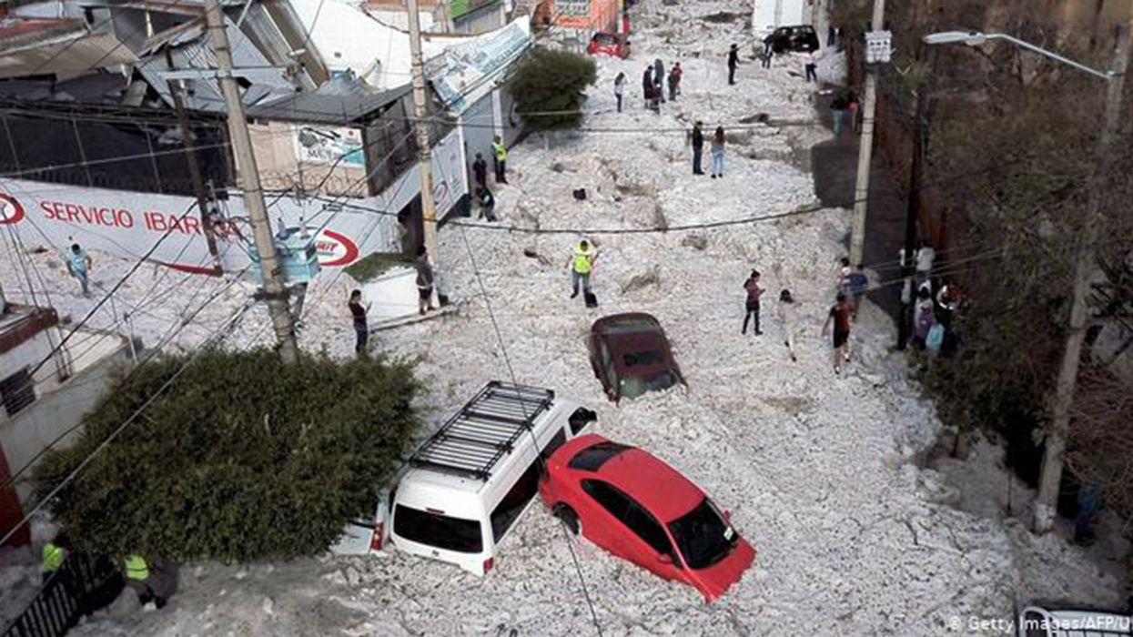Hail Storm Buries Parts of Mexican City of Guadalajara in Ice
