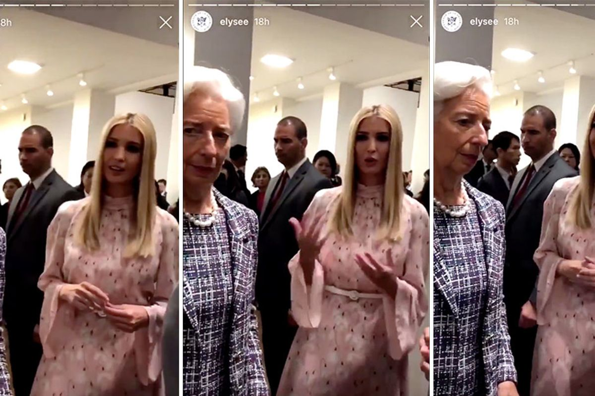 Watch Ivanka Trump try to speak with world leaders. Hint: It's a disaster.