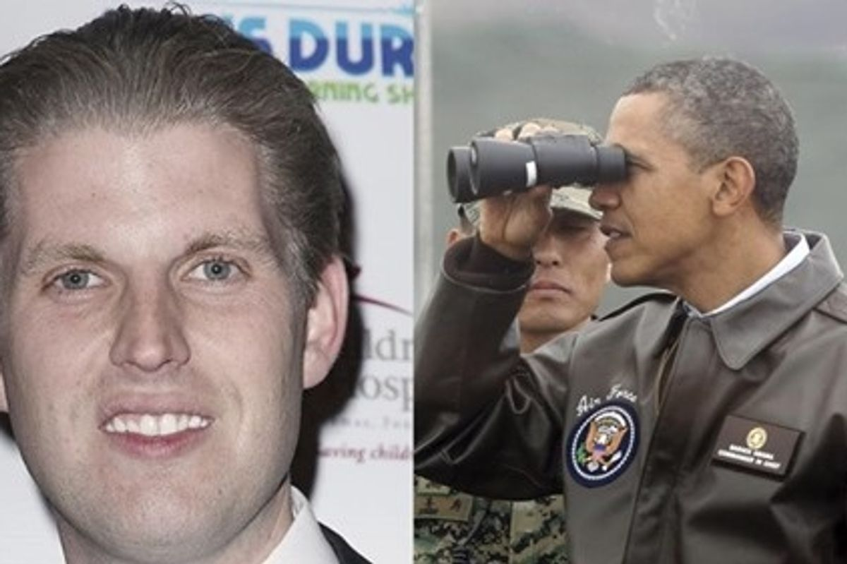 Eric Trump tweets-and-deletes attempted Obama burn.